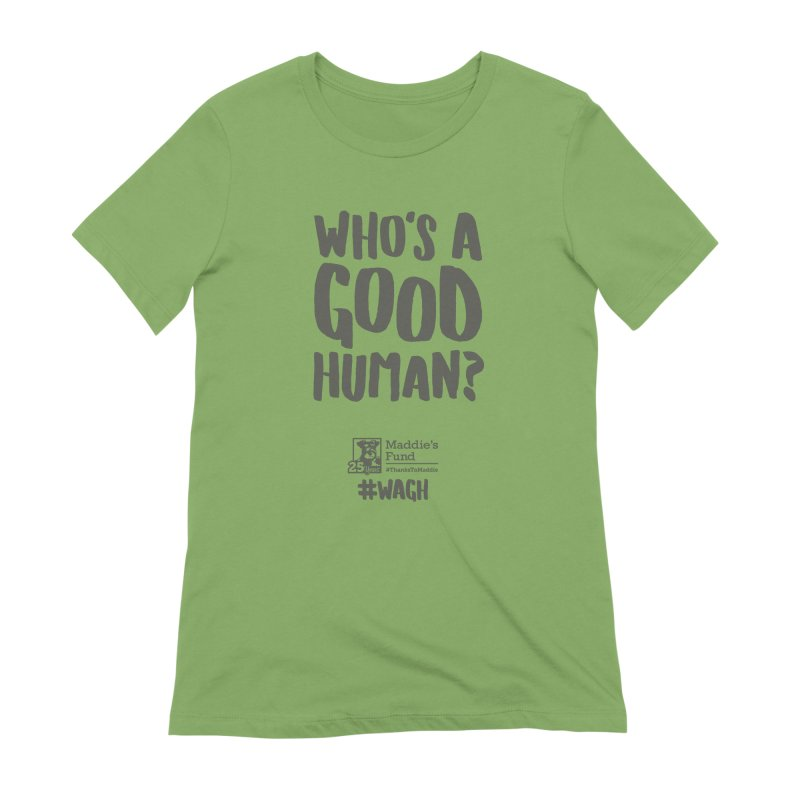 Who's a Good Human Handlettered Women's Extra Soft T-Shirt by Maddie Shop