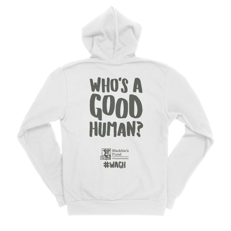 Who's a Good Human Handlettered Men's Sponge Fleece Zip-Up Hoody by Maddie Shop