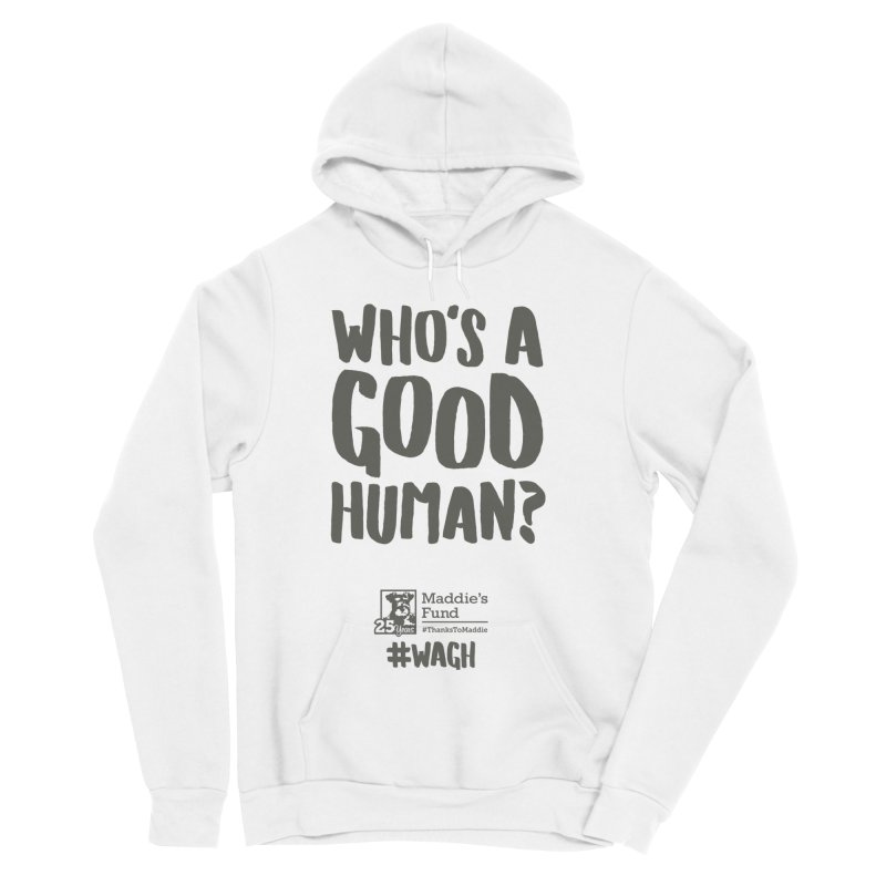 Who's a Good Human Handlettered Men's Sponge Fleece Pullover Hoody by Maddie Shop