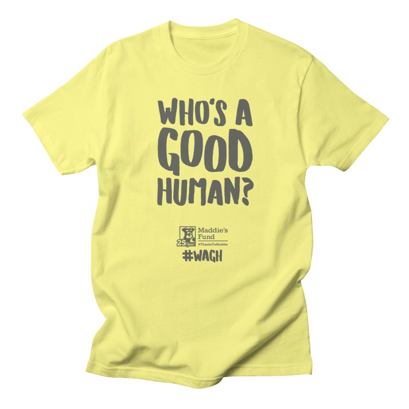Who's a Good Human Handlettered Men's T-Shirt by Maddie Shop