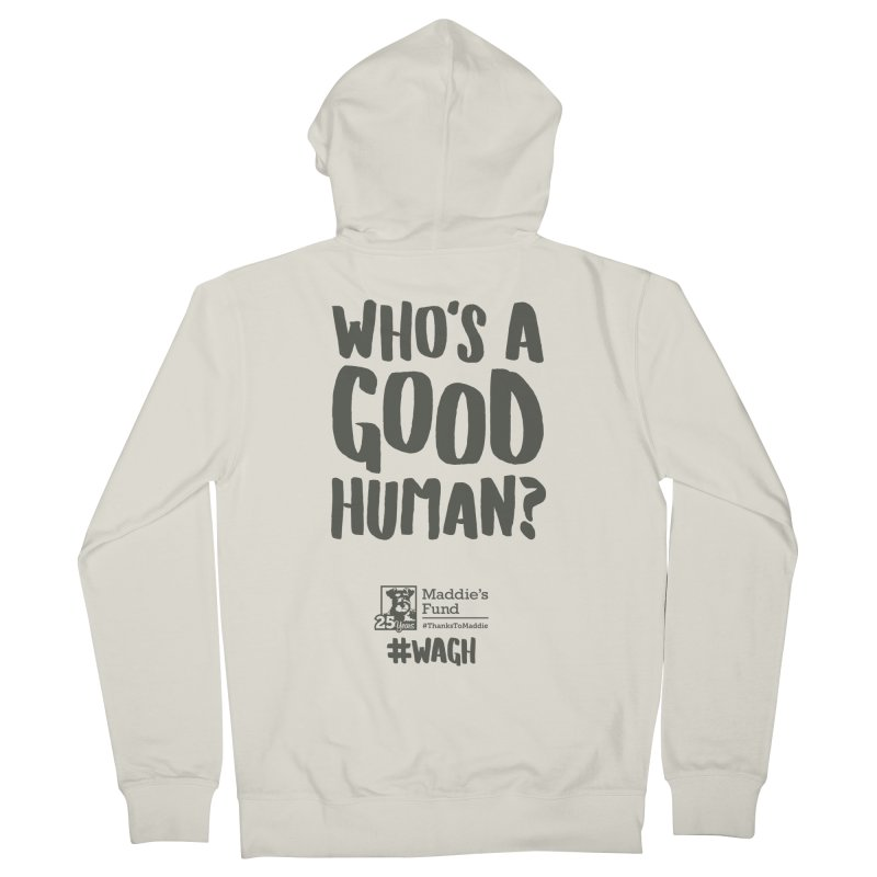 Who's a Good Human Handlettered Men's French Terry Zip-Up Hoody by Maddie Shop