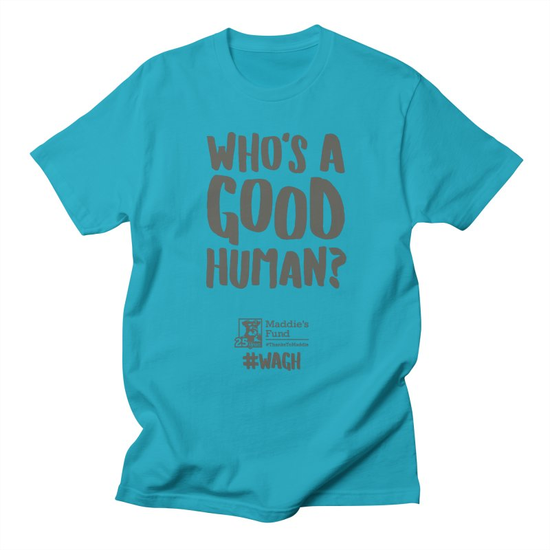 Who's a Good Human Handlettered Men's Regular T-Shirt by Maddie Shop