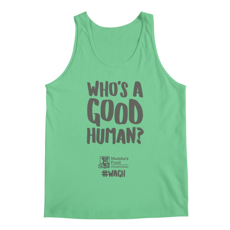 Who's a Good Human Handlettered Men's Regular Tank by Maddie Shop