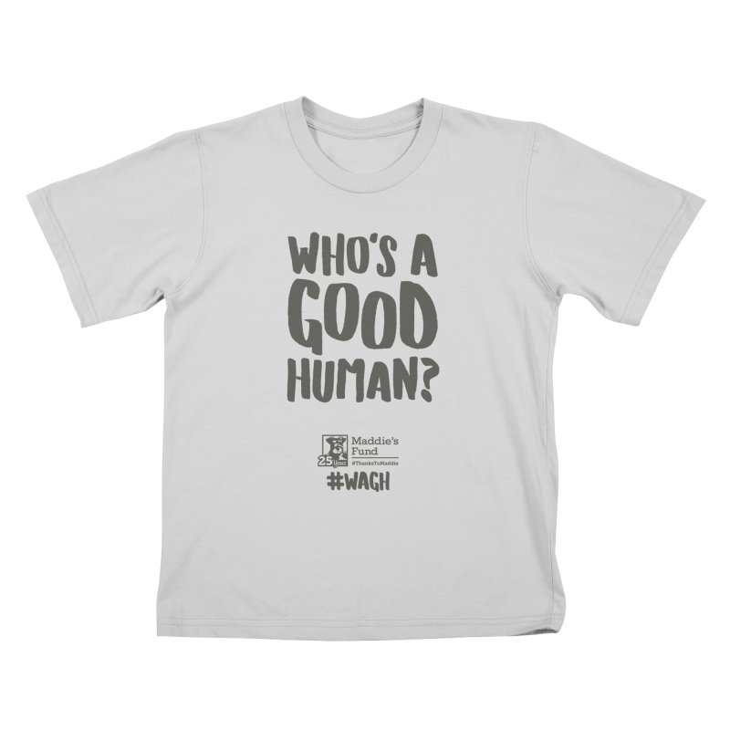 Who's a Good Human Handlettered Kids T-Shirt by Maddie Shop