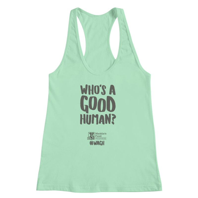 Who's a Good Human Handlettered Women's Racerback Tank by Maddie Shop