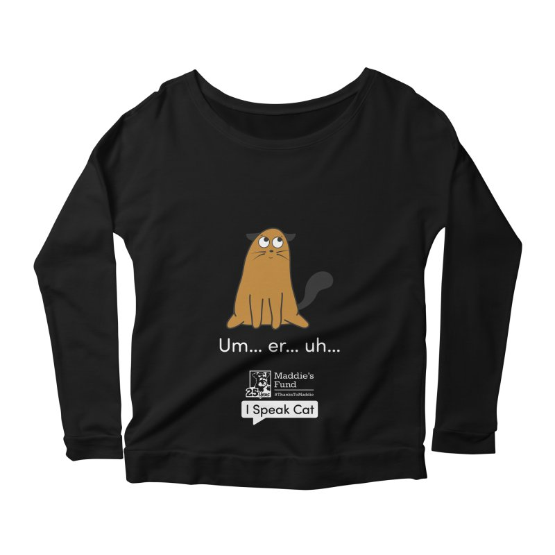 Airplane Ears Women's Scoop Neck Longsleeve T-Shirt by Maddie Shop