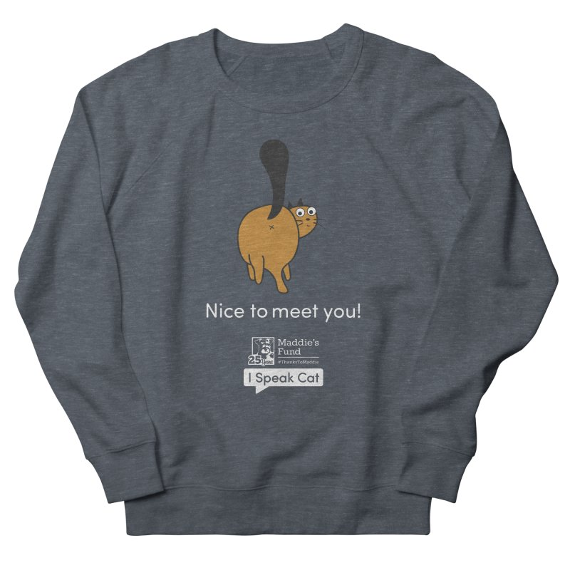 Butt Presentation Men's French Terry Sweatshirt by Maddie Shop