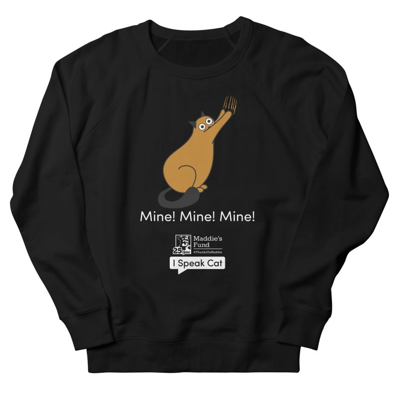 Scratching Men's French Terry Sweatshirt by Maddie Shop