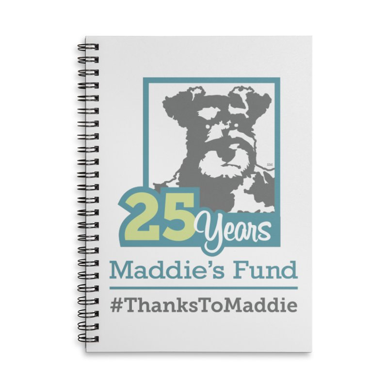 25th Anniversary Logo Light Colors Accessories Lined Spiral Notebook by Maddie Shop