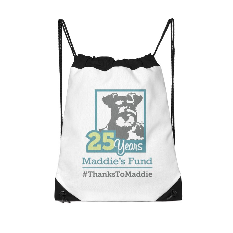 25th Anniversary Logo Light Colors Accessories Drawstring Bag Bag by Maddie Shop