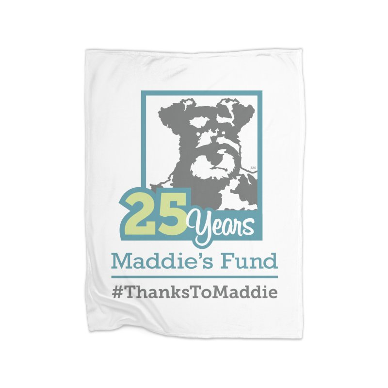 25th Anniversary Logo Light Colors Home Fleece Blanket Blanket by Maddie Shop