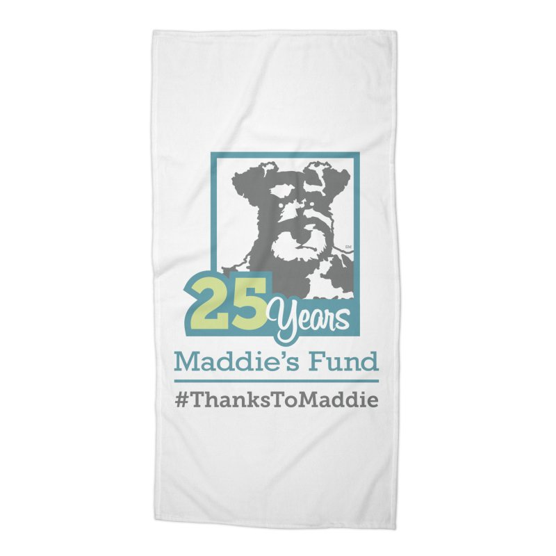 25th Anniversary Logo Light Colors Accessories Beach Towel by Maddie Shop