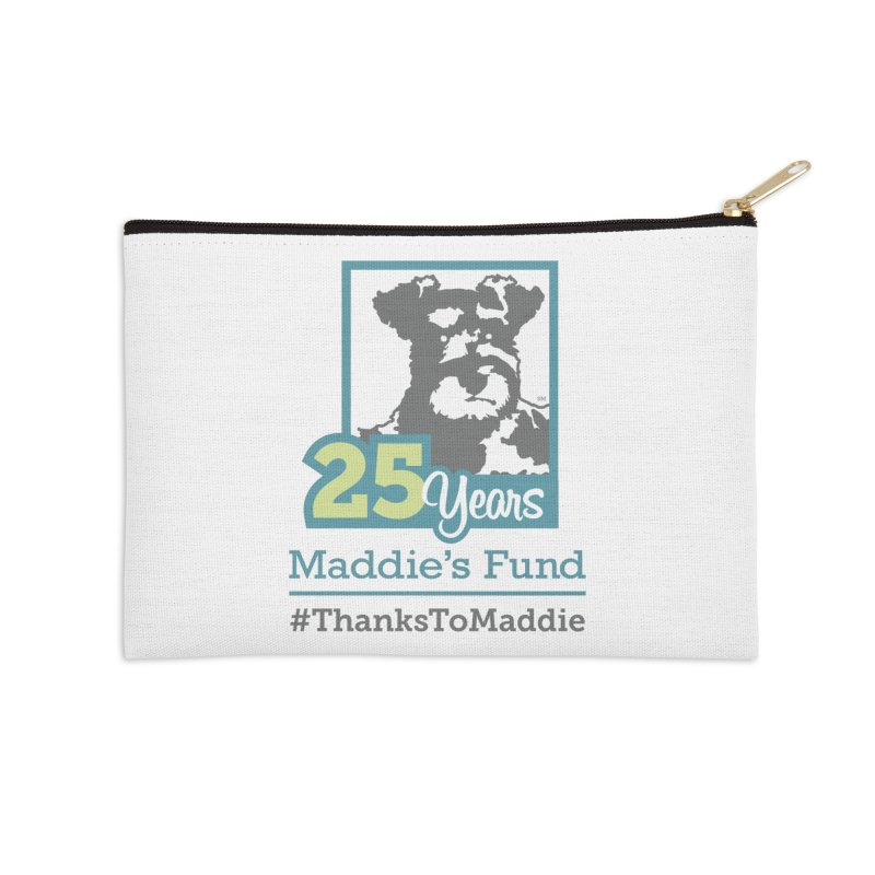 25th Anniversary Logo Light Colors Accessories Zip Pouch by Maddie Shop