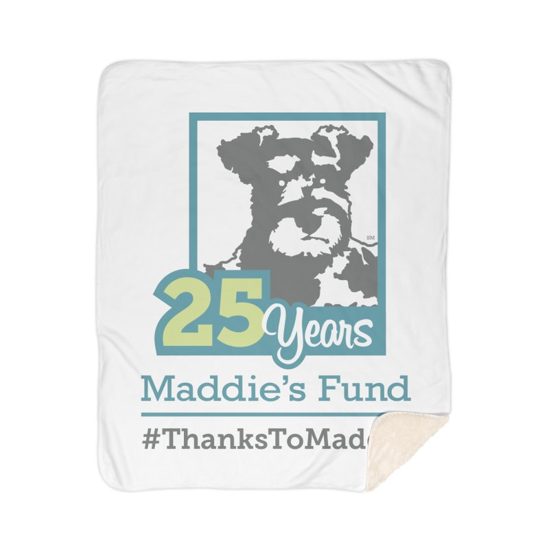 25th Anniversary Logo Light Colors Home Sherpa Blanket Blanket by Maddie Shop