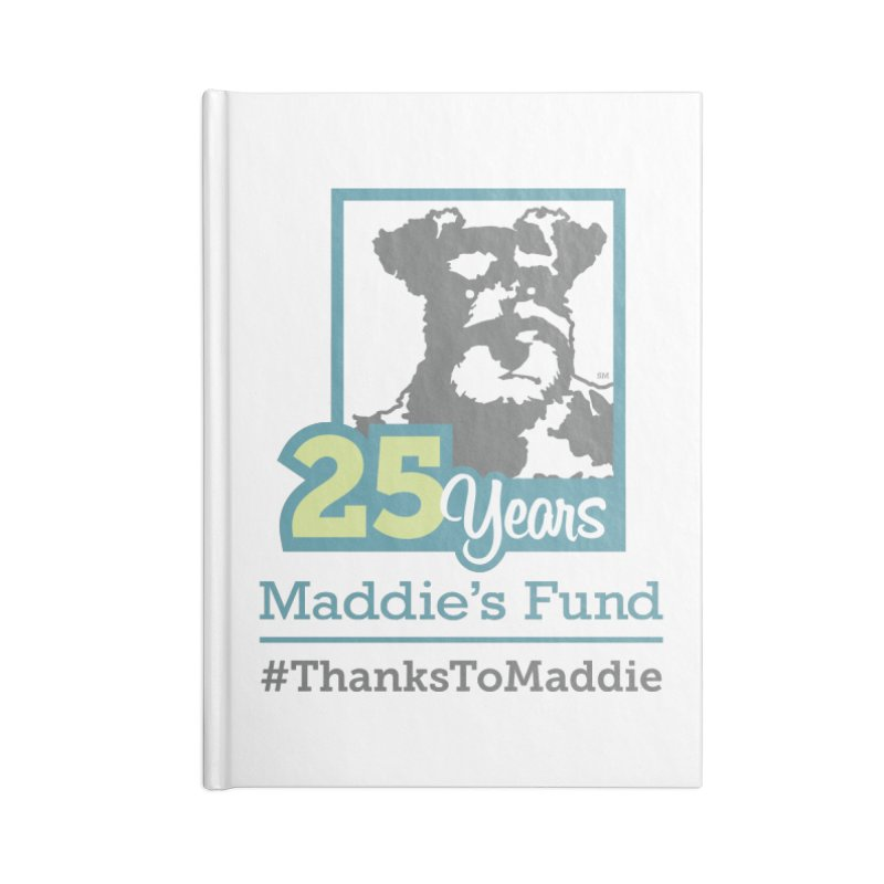 25th Anniversary Logo Light Colors Accessories Blank Journal Notebook by Maddie Shop