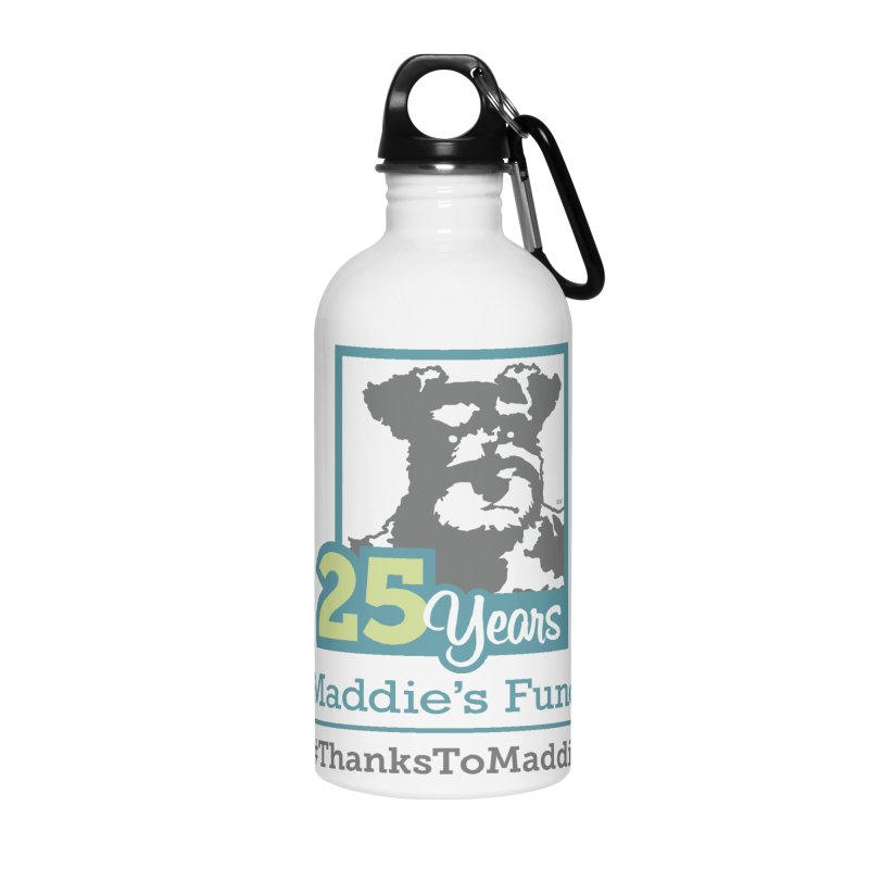 25th Anniversary Logo Light Colors Accessories Water Bottle by Maddie Shop