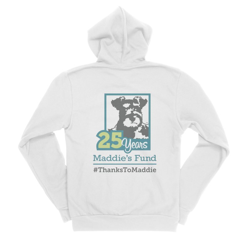 25th Anniversary Logo Light Colors Women's Sponge Fleece Zip-Up Hoody by Maddie Shop