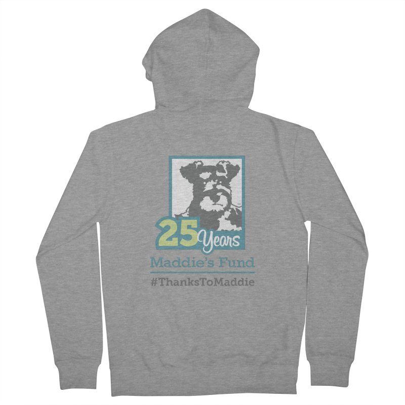 25th Anniversary Logo Light Colors Women's French Terry Zip-Up Hoody by Maddie Shop