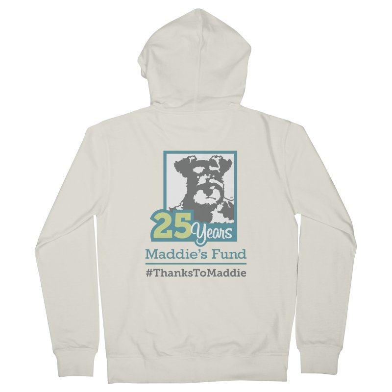 25th Anniversary Logo Light Colors Men's French Terry Zip-Up Hoody by Maddie Shop