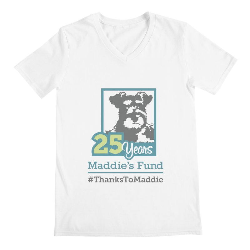 25th Anniversary Logo Light Colors Men's Regular V-Neck by Maddie Shop