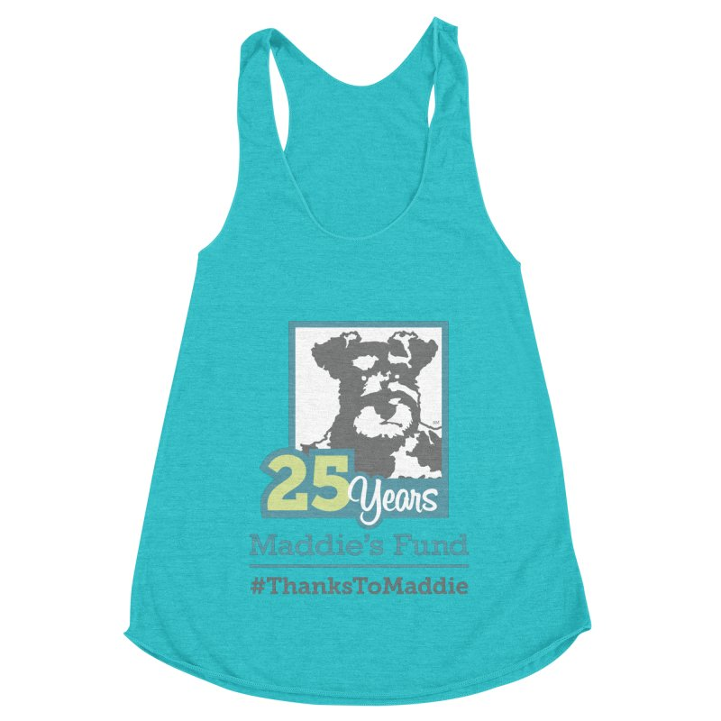 25th Anniversary Logo Light Colors Women's Racerback Triblend Tank by Maddie Shop