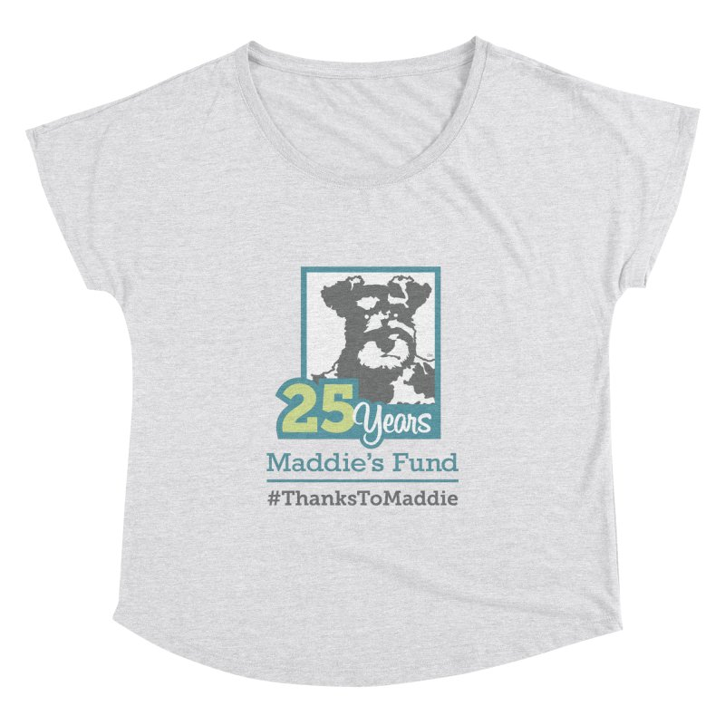 25th Anniversary Logo Light Colors Women's Dolman Scoop Neck by Maddie Shop