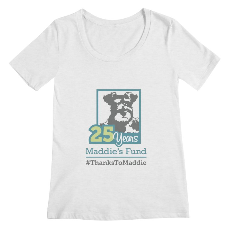 25th Anniversary Logo Light Colors Women's Regular Scoop Neck by Maddie Shop