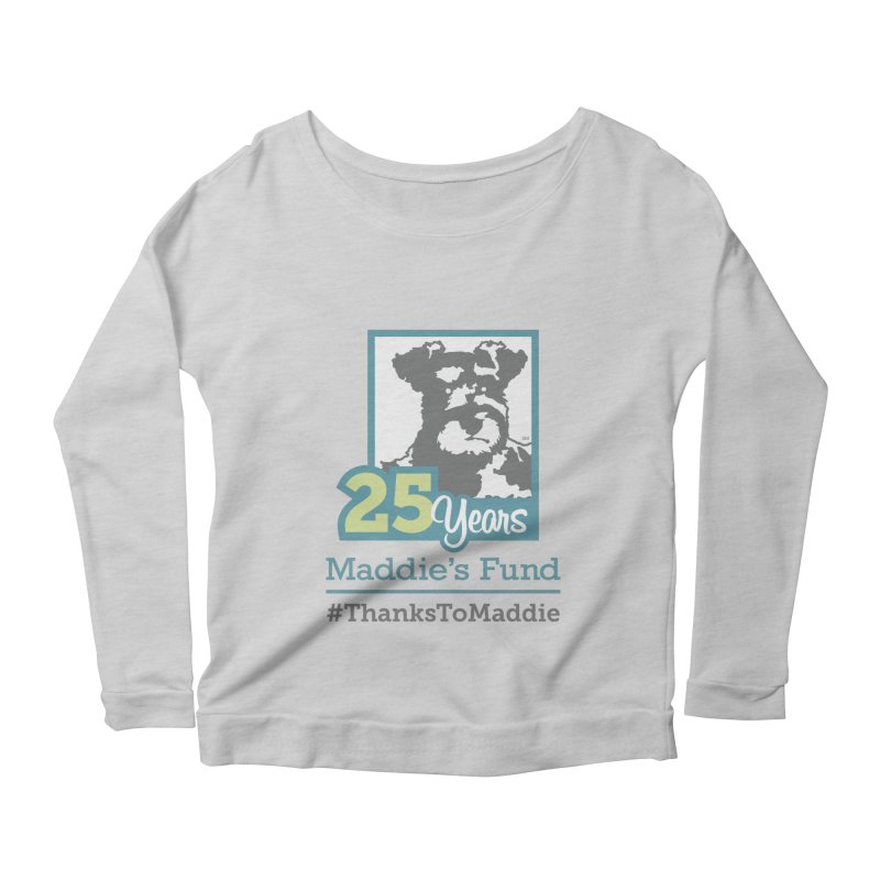 25th Anniversary Logo Light Colors Women's Scoop Neck Longsleeve T-Shirt by Maddie Shop