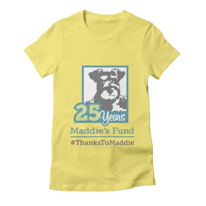 25th Anniversary Logo Light Colors Women's Fitted T-Shirt by Maddie Shop