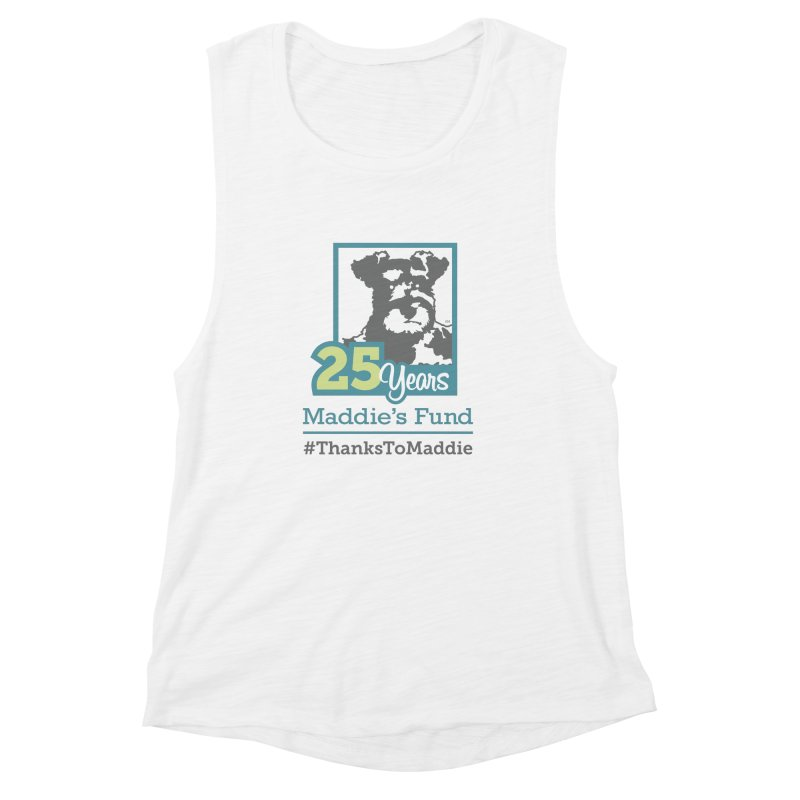 25th Anniversary Logo Light Colors Women's Muscle Tank by Maddie Shop