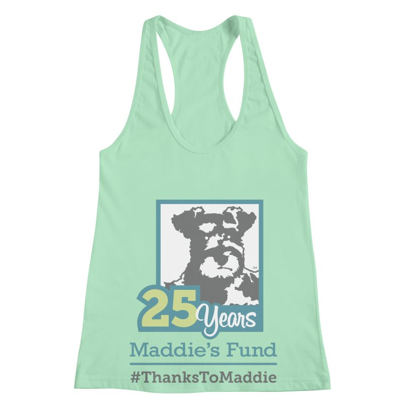 25th Anniversary Logo Light Colors Women's Racerback Tank by Maddie Shop