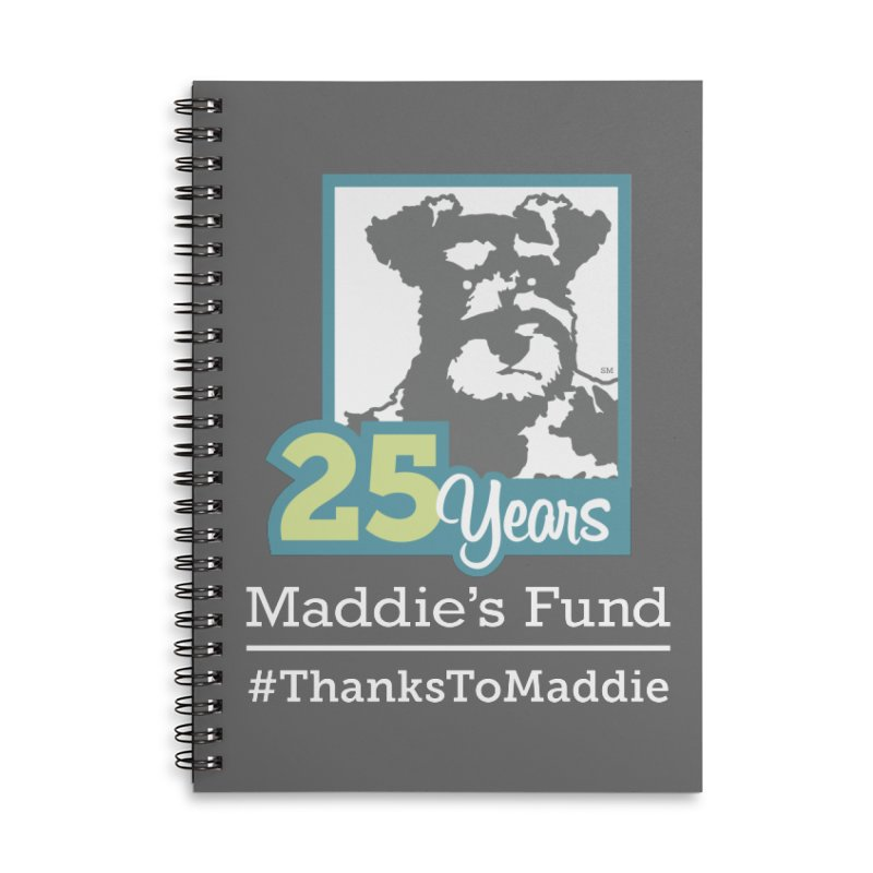 25th Anniversary Logo Dark Colors Accessories Lined Spiral Notebook by Maddie Shop