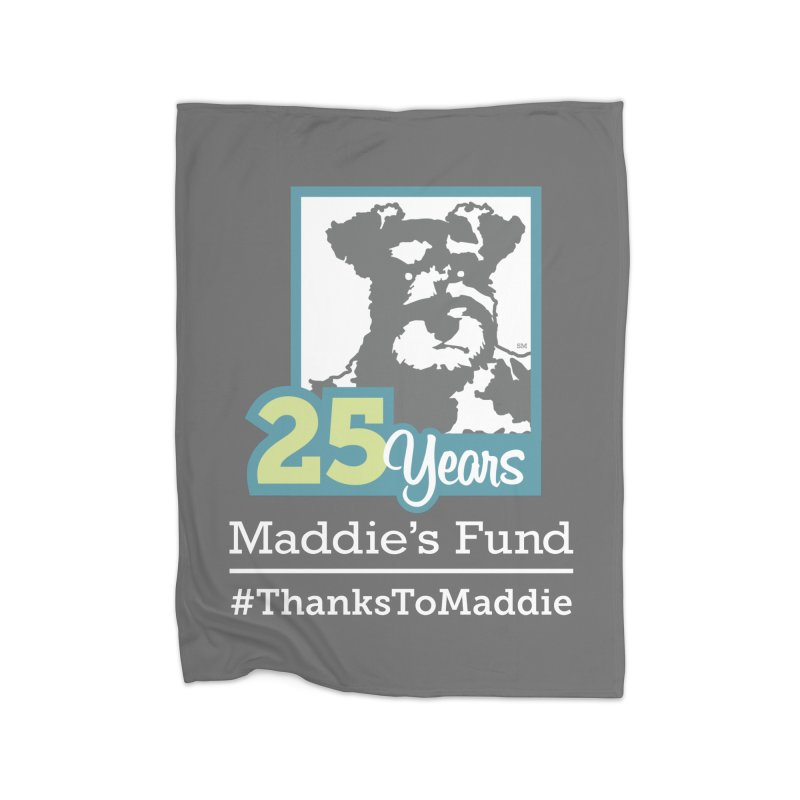 25th Anniversary Logo Dark Colors Home Fleece Blanket Blanket by Maddie Shop