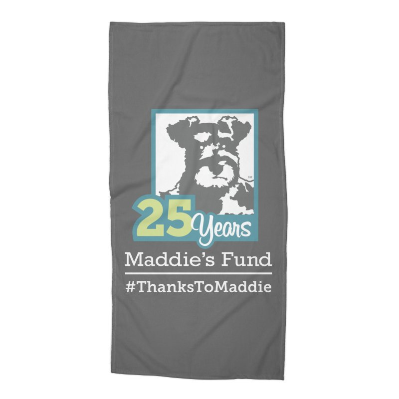 25th Anniversary Logo Dark Colors Accessories Beach Towel by Maddie Shop
