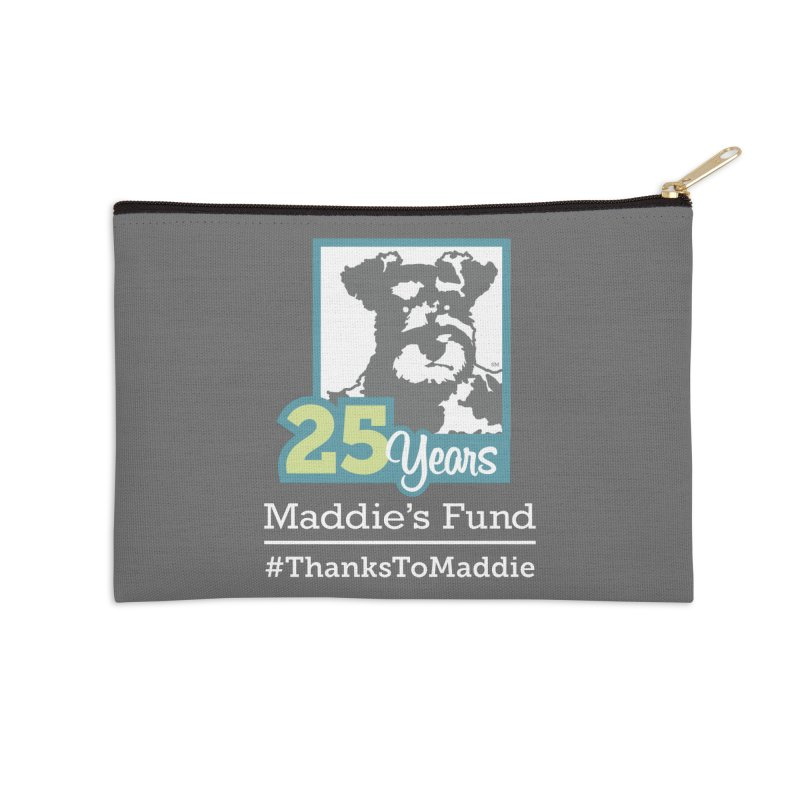 25th Anniversary Logo Dark Colors Accessories Zip Pouch by Maddie Shop