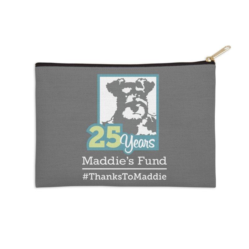 25th Anniversary Logo Dark Colors Accessories Zip Pouch by Maddie Shop