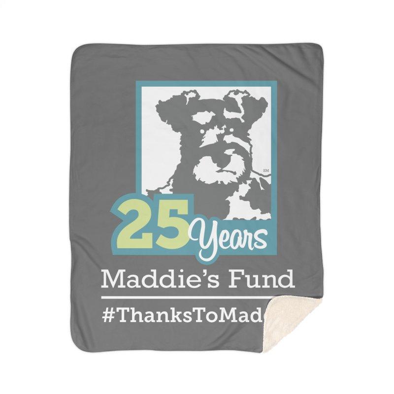 25th Anniversary Logo Dark Colors Home Sherpa Blanket Blanket by Maddie Shop