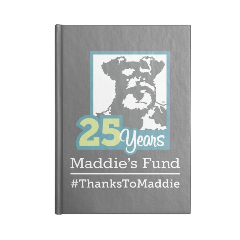25th Anniversary Logo Dark Colors Accessories Lined Journal Notebook by Maddie Shop