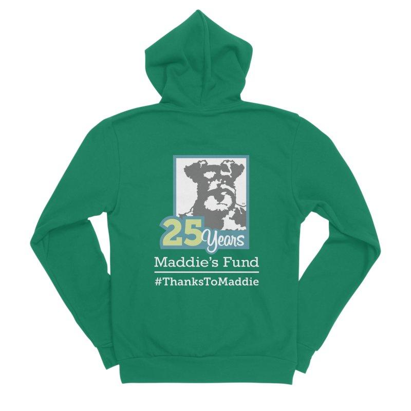 25th Anniversary Logo Dark Colors Men's Sponge Fleece Zip-Up Hoody by Maddie Shop