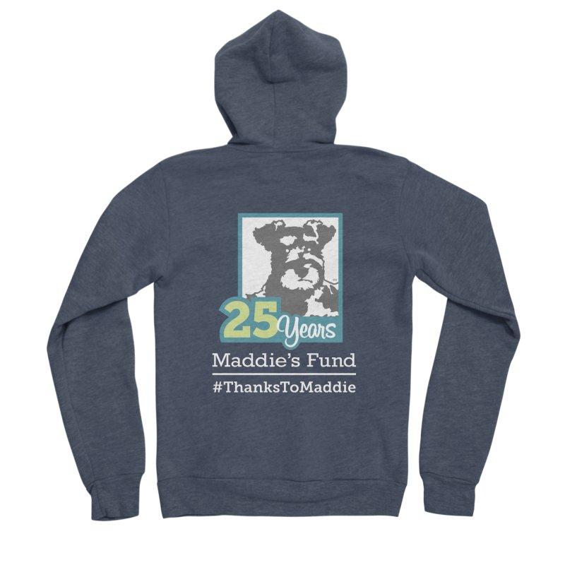 25th Anniversary Logo Dark Colors Women's Sponge Fleece Zip-Up Hoody by Maddie Shop