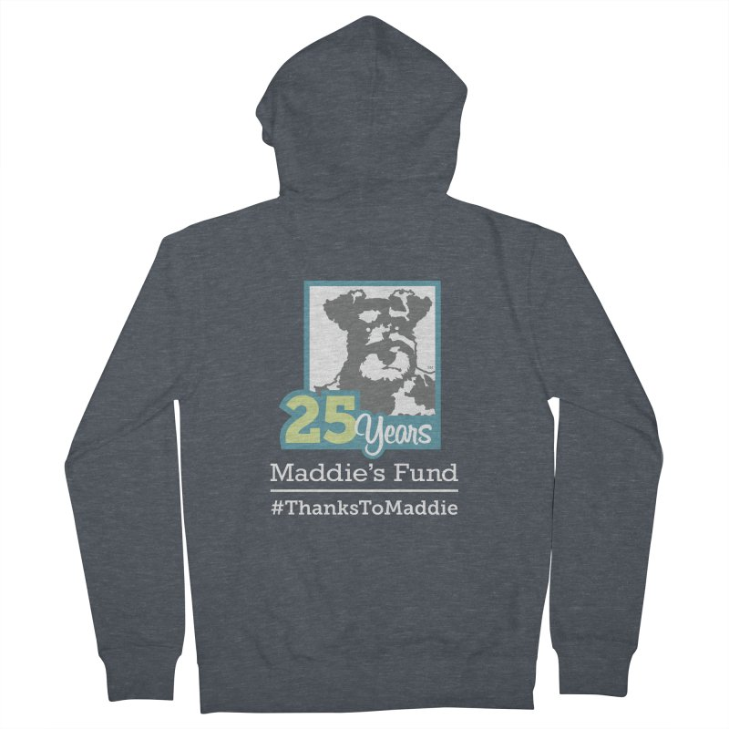 25th Anniversary Logo Dark Colors Men's French Terry Zip-Up Hoody by Maddie Shop