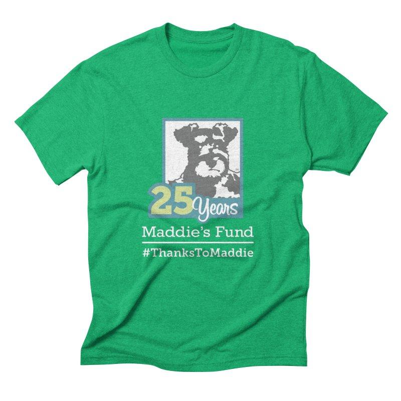 25th Anniversary Logo Dark Colors Men's Triblend T-Shirt by Maddie Shop