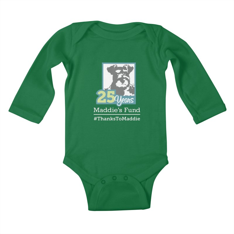 25th Anniversary Logo Dark Colors Kids Baby Longsleeve Bodysuit by Maddie Shop