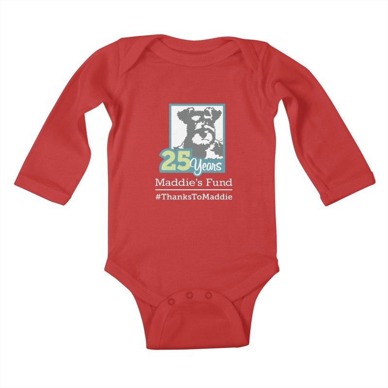 25th Anniversary Logo Dark Colors Kids Baby Longsleeve Bodysuit by Maddie Shop