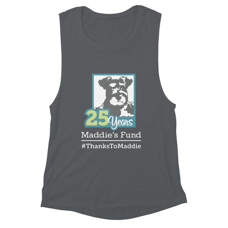 25th Anniversary Logo Dark Colors Women's Muscle Tank by Maddie Shop