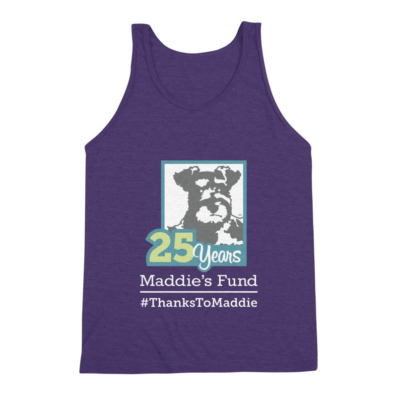 25th Anniversary Logo Dark Colors Men's Triblend Tank by Maddie Shop