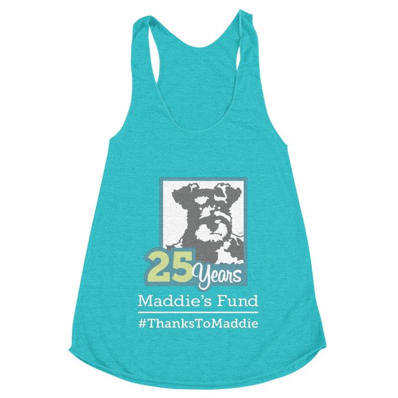 25th Anniversary Logo Dark Colors Women's Racerback Triblend Tank by Maddie Shop