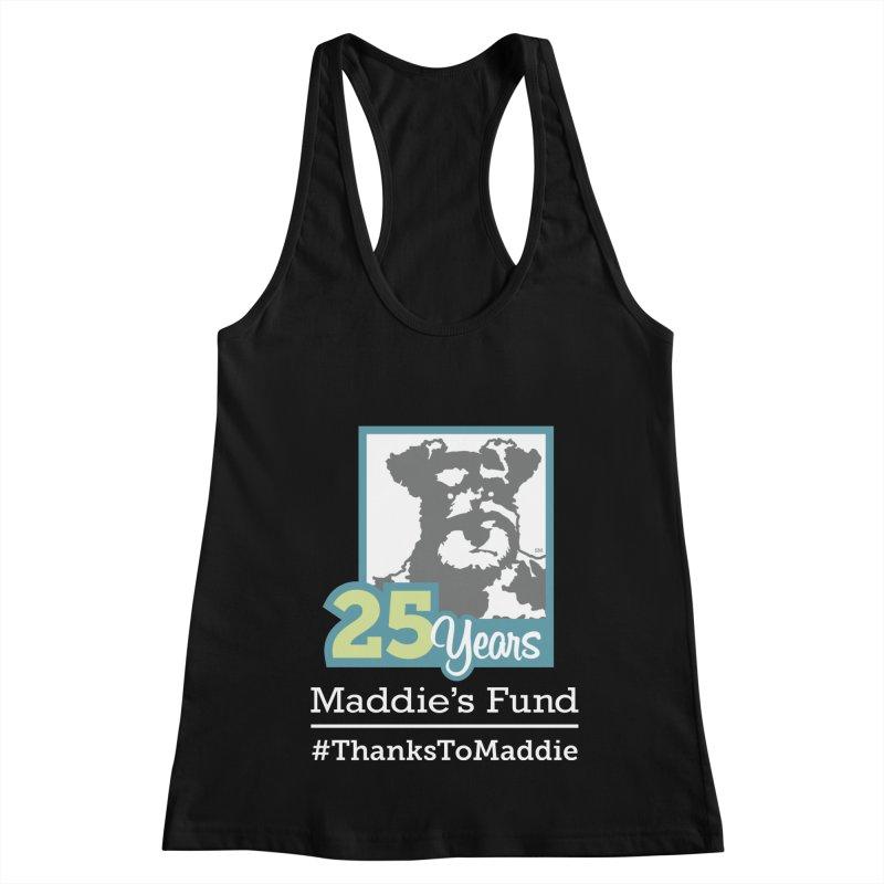 25th Anniversary Logo Dark Colors Women's Racerback Tank by Maddie Shop