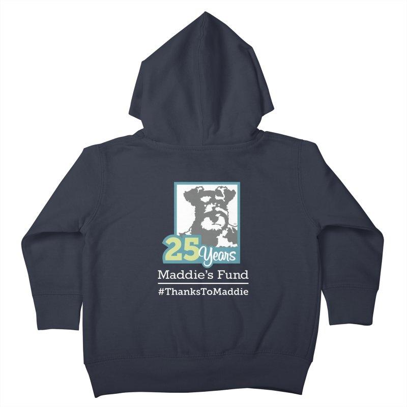 25th Anniversary Logo Dark Colors Kids Toddler Zip-Up Hoody by Maddie Shop