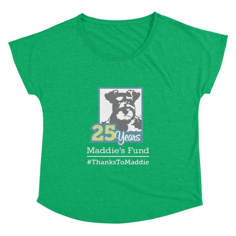 25th Anniversary Logo Dark Colors Women's Dolman Scoop Neck by Maddie Shop